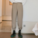 Casual pants CHICERRO Youth fashion Khaki, black S,M,L,XL routine trousers Other leisure easy spring teenagers tide 2021 Medium high waist Little feet Tapered pants Three dimensional tailoring No iron treatment Solid color
