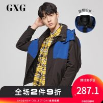 Jacket GXG Youth fashion black 190/XXXL 170/M 175/L 180/XL 185/XXL 165/S routine standard Other leisure autumn GY121337E Polyester 100% Long sleeves Wear out Detachable cap Youthful vigor youth routine Zipper placket Straight hem Closing sleeve other Autumn of 2019 Zipper decoration polyester fiber