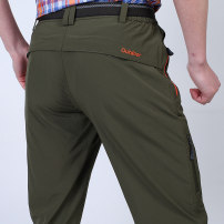 Casual pants Benson Farley Fashion City Army green grey royal blue M/170 L/175 XL/180 XXL/185 XXXL/190 4XL/195 thin trousers Travel? Straight cylinder High shot summer youth Exquisite Korean style 2018 middle-waisted Straight cylinder Polyester 92.4% polyurethane elastic fiber (spandex) 7.6% Overalls
