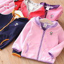 Plain coat Shell element female 140cm,130cm,120cm,110cm,100cm,90cm Watermelon red, Navy, blue, gray, Chinese red, light pink, pink purple spring and autumn motion Zipper shirt No model routine No detachable cap other other Crew neck wt9631 Class B