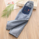trousers Shell element female spring and autumn trousers fresh Jeans No model in real shooting Don't open the crotch kzc919 Class B 2, 3, 4, 5, 6, 7, 8, 9, 10, 11, 12, 13, 14 years old Denim blue 90cm,100cm,110cm,120cm,130cm,140cm,150cm