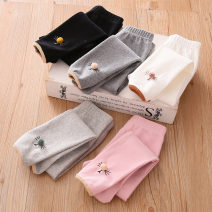 trousers Shell element female 140cm,130cm,120cm,110cm,100cm,90cm Black, white, grey, pink, Korean grey spring and autumn trousers fresh No model Leggings Leather belt middle-waisted Don't open the crotch kzc609 Class B 14, 13, 12, 11, 10, 9, 8, 7, 6, 5, 4, 3, 2 years old
