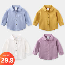 shirt White, blue, yellow, txa637 blue, txa637 yellow, taro purple Shell element male 90cm,100cm,110cm,120cm,130cm,140cm spring and autumn Long sleeves other other Other 100% txa956 Class B