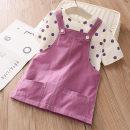 suit Shell element Polka Dot T + strap skirt 90cm,100cm,110cm,120cm,130cm,140cm female summer fresh No model tz4788 Class B 2, 3, 4, 5, 6, 7, 8, 9, 10, 11, 12, 13, 14 years old