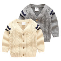 Sweater / sweater other Shell element Solid color female Single breasted 2, 3, 4, 5, 6, 7, 8, 9, 10, 11, 12, 13, 14 V-neck nothing routine wt8736 No model in real shooting Ordinary wool princess Class B 90cm,100cm,110cm,120cm,130cm,140cm,150cm Grey, beige
