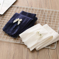 trousers Shell element female 100cm,110cm,120cm,130cm,140cm,150cm White, Navy summer trousers Korean version No model Leggings Don't open the crotch Class B 2, 3, 4, 5, 6, 7, 8, 9, 10, 11, 12, 13, 14 years old