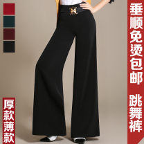 Casual pants 27 (2 feet), 28 (2 feet 1), 29 (2 feet 2), 30 (2 feet 3), 31 (2 feet 4), 32 (2 feet 5), 33 (2 feet 6), 34 (2 feet 7) Autumn of 2019 trousers Wide leg pants High waist commute routine Other / other Ol style Three dimensional cutting