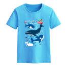 T-shirt Guidudu male summer Short sleeve Crew neck leisure time No model nothing cotton Cartoon animation Cotton 100% t-shirt  Class B Sweat absorption 2, 3, 4, 5, 6, 7, 8, 9, 10, 11, 12, 13, 14 years old Chinese Mainland Guangdong Province zhongshan