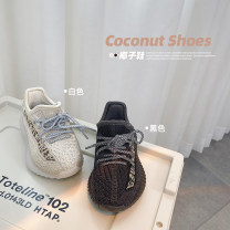 canvas shoe 26 (16.7cm), 27 (17.2cm), 28 (17.9cm), 29 (18.3cm), 30 (19cm) male Other / other Black, in stock, off white, in stock Others Velcro spring and autumn other Buckles Solid color Korean version children
