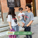 Parent child fashion White, spot, grey, spot A family of three currency ivan 80, 90, 100, 110, 120, 130, 140, 150, s, m, l, XL, XXL Ivan (clothing) summer leisure time routine Cartoon animation Finished T-shirt S,M,L Cotton 95% polyurethane elastic fiber (spandex) 5% L,XL,XXL