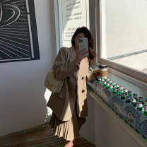 Women's large Spring 2021 Suspender skirt, suit coat Large, 3XL, 4XL, large Other oversize styles Two piece set commute Self cultivation moderate Cardigan Long sleeves Korean version Polo collar routine Three dimensional cutting routine W5988+L5991 Mr. Zhang 25-29 years old Button Medium length