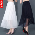 skirt Summer of 2018 Average size Mid length dress commute Natural waist A-line skirt Solid color Type A 35-39 years old More than 95% Chiffon silk Simplicity Mulberry silk 100% Pure e-commerce (online only)
