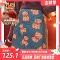 skirt Winter 2020 S M L Short skirt Retro Natural waist A-line skirt Type A 18-24 years old More than 95% Elf sack / goblin's pocket other printing Other 100% Pure e-commerce (online only)