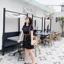Women's large Summer of 2019 black L XL 2XL 3XL 4XL 5XL Dress singleton  commute Self cultivation moderate Socket Short sleeve Words / numbers Korean version Crew neck polyester Three dimensional cutting routine Q0210N Caidoble / caidoble · CAI 25-29 years old belt 96% and above Middle-skirt other