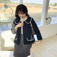 Women's large Spring 2021 Black black pre sale L XL 2XL 3XL 4XL 5XL singleton  commute easy thick Cardigan Long sleeves Solid color Korean version other routine Polyester others W0281 Caidoble / caidoble · CAI 25-29 years old zipper 71% (inclusive) - 80% (inclusive) zipper