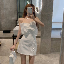 Fashion suit Summer 2021 S, M White skirt, white sling, black skirt, black sling 18-25 years old Tencel