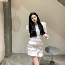 Dress Spring 2021 White, black S, M Middle-skirt singleton  Long sleeves commute Crew neck middle-waisted Others 18-24 years old Korean version 5111# 31% (inclusive) - 50% (inclusive) other