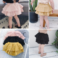 skirt 73cm,80cm,90cm,100cm,110cm Yellow, black, pink Other / other female Cotton 95% other 5% summer skirt Solid color Cake skirt other