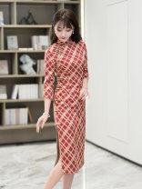 cheongsam Spring 2021 S M L XL XXL R359 R18FR359 Ruyifeng polyester fiber Polyester 97% polyurethane elastic fiber (spandex) 3%