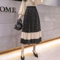skirt Spring 2021 Average size Square card color, square black, copper coin black, copper coin card color, dot black, dot card color Mid length dress Versatile High waist Pleated skirt Type A 18-24 years old Q/13 71% (inclusive) - 80% (inclusive) other