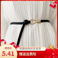 Belt / belt / chain Double skin leather currency belt leisure time a hook alloy alone Other / other 1cm