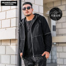 Jacket Rowing Cologne Fashion City Plush and thicken easy daily winter Long sleeves Wear out No collar American leisure Large size routine Zipper placket 2018 Straight hem Regular sleeve Solid color Chemical fiber blend printing Zipper bag other