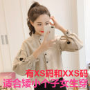 shirt XXS,XS,S,M,L,XL,2XL Spring 2021 other 96% and above Long sleeves commute Regular Polo collar Single row multi button other Solid color 18-24 years old Straight cylinder Zhenyaluo Ol style