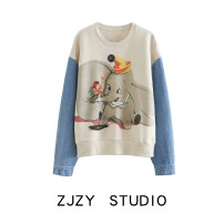 Sweater / sweater Autumn 2020 Off white S,M,L Long sleeves routine Socket singleton  thickening Crew neck easy street cotton Cotton liner Europe and America