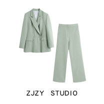 suit Spring 2021 Avocado Green suit, Avocado Green Pants XS,S,M,L Long sleeves routine easy other