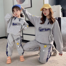 Parent child fashion White, gray A family of three female Other / other spring and autumn leisure time routine Cartoon animation Sweater / sweater cotton L,M,S,XS Cotton 95% other 5% 2, 3, 4, 5, 6, 7, 8, 9, 10 years old