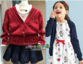 Sweater / sweater 110cm,120cm,130cm,140cm,150cm cotton female Other / other Solid color 2, 3, 4, 5, 6, 7, 8, 9, 10 years old