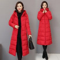 Cotton padded clothes M,L,XL,2XL,3XL,4XL,5XL,6XL Winter of 2018 Other / other have more cash than can be accounted for Long sleeves thickening zipper commute Hood routine Self cultivation Solid color Korean version Pocket, zipper Cotton 81% - 90% 18-24 years old
