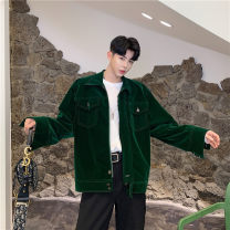 Jacket Other / other Youth fashion Green, black M,L,XL,2XL thick easy Other leisure autumn Polyamide (nylon) 55% polyethylene terephthalate (polyester) 45% Long sleeves Wear out square neck Basic public teenagers routine Single breasted 2019 Straight hem No iron treatment Loose cuff Solid color nylon