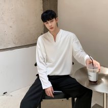Sweater Youth fashion Others White, black, lotus root M,L,XL other Socket routine V-neck easy leisure time youth like a breath of fresh air routine
