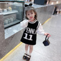 Dress female Mikir / mikir 90cm 100cm 110cm 120cm 130cm Other 100% spring and autumn Korean version Long sleeves letter other Straight skirt Class A Summer 2021 12 months, 18 months, 2 years old, 3 years old, 4 years old, 5 years old, 6 years old Chinese Mainland Jiangsu Province