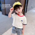 T-shirt White Pink Blue Mikir / mikir 80cm 90cm 100cm 110cm 120cm 130cm female summer Short sleeve Crew neck Korean version There are models in the real shooting nothing cotton Cartoon animation Cotton 95% other 5% XDXFSX123 Class A Sweat absorption Summer 2021 Chinese Mainland Jiangsu Province