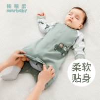 Home Gown / Nightgown Cotton 100% Light lake blue crystal powder gentleman blue bean paste powder olive green Soft cotton Class A neutral spring and autumn 12 months, 1 year old, 18 months old, 2 years old, 3 years old, 4 years old cotton Sweat absorption and moisture absorption at home MF6201891