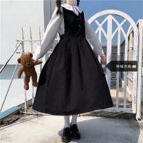 Fashion suit Spring 2021 S,M,L,XL White shirt (single piece), blue shirt (single piece), black dress (single piece), Navy Dress (single piece) 18-25 years old Other / other 51% (inclusive) - 70% (inclusive) polyester fiber