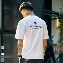 T-shirt Youth fashion White, light gray, dark gray, black routine S,M,L,XL,2XL Others Short sleeve Crew neck easy Other leisure summer DS1455258 teenagers routine tide 2020 No iron treatment