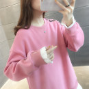 Sweater / sweater Spring 2021 Pink grey red blue black Average size Long sleeves routine Socket singleton  routine Crew neck easy commute routine Solid color 25-29 years old 96% and above Qainfuli / xianfuli Korean version other Other 100% Pure e-commerce (online only)
