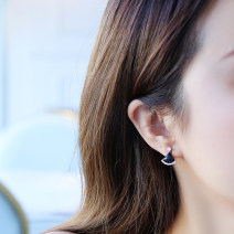 Ear Studs Titanium steel 101-200 yuan Only cool brand new Japan and South Korea female goods in stock Fresh out of the oven Gold Plated inlaid artificial gem / semi gem other Summer 2020 Pure e-commerce (online only)