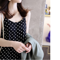 Dress L Black and white dots