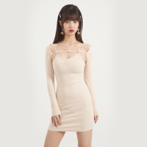 Dress Spring 2021 Green, black, purple, apricot S, M Short skirt singleton  Sleeveless commute square neck High waist Solid color Socket other routine camisole 18-24 years old Type A Egg laying meow Retro SC-FA1670 81% (inclusive) - 90% (inclusive) other