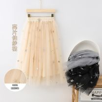 skirt 110cm,120cm,130cm,140cm,150cm,160cm,170cm Black, grey, apricot Other / other female Other 100% spring and autumn skirt princess Solid color Pleats other Class B