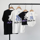 Parent child fashion White, black A family of three Female, male, neutral Other / other summer leisure time routine other Finished T-shirt cotton L,M,S,XL,XS,XXL,XXXL Cotton 95% polyurethane elastic fiber (spandex) 5% S,M,L,XL,XXL Chinese Mainland