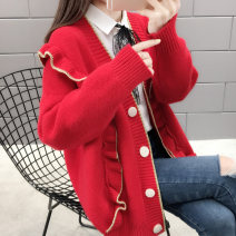 Wool knitwear Spring of 2019 S M L XL Grey red yellow white Long sleeves singleton  Socket other More than 95% Regular routine commute easy V-neck routine Color matching Socket Korean version BXL10614T Bei Xueli Bright lace button Other 100% Pure e-commerce (online only)