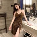 Dress Summer 2021 Picture color S,M,L Short skirt singleton  Sleeveless commute V-neck High waist Solid color zipper One pace skirt camisole 18-24 years old Type H Korean version Open back, zipper