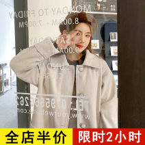 woolen coat Spring 2021 S M L XL 2XL 3XL 4XL Milky JH polyester 95% and above Medium length Long sleeves commute Single breasted routine square neck Solid color Korean version 12-21C5343NBS-XX Eileen 18-24 years old Pocket button Solid color Polyester 100% Pure e-commerce (online only)