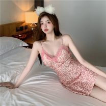 Pajamas / housewear set male Other / other S,M,L Pink other Sleeveless sexy pajamas summer Crew neck other Socket youth 21% (inclusive) - 40% (inclusive) Middle-skirt