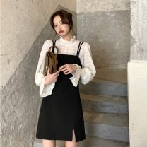Fashion suit Spring 2021 S. M, average size White shirt, black shirt, dress# 18-25 years old 31% (inclusive) - 50% (inclusive)